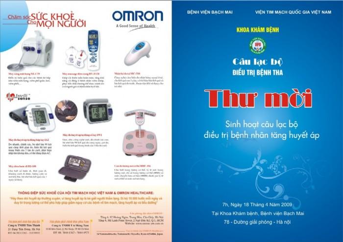 OMRON tài trợ chương trình sinh hoạt Câu lạc bộ tăng huyết áp tại Bệnh viện Bạch mai ngày 18-4-2009. 1