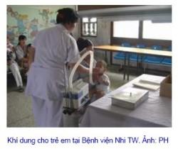 hinh su dung khi dung trong BV e1275880690399 Dùng khí dung cho các bệnh về mũi, họng.