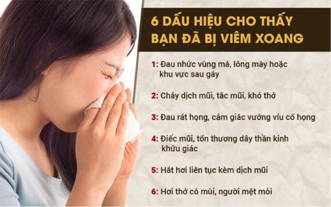 Dấu hiệu cảnh báo mắc bệnh viêm xoang 1