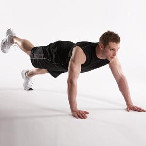 Động tác 2: Bài tập nâng cơ thể 1