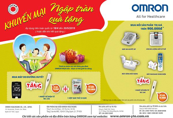 Chương trình khuyến mãi của Omron Healthcare tháng 5 2015