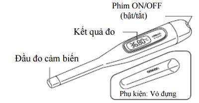 Các bộ phận của nhiệt kế điện tửMC-272L 1