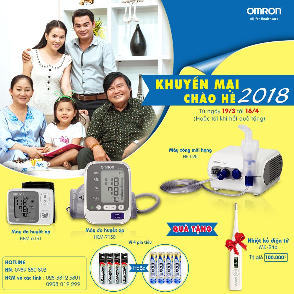 Omron Healthcare tưng bừng khuyến mại chào hè 2018 1