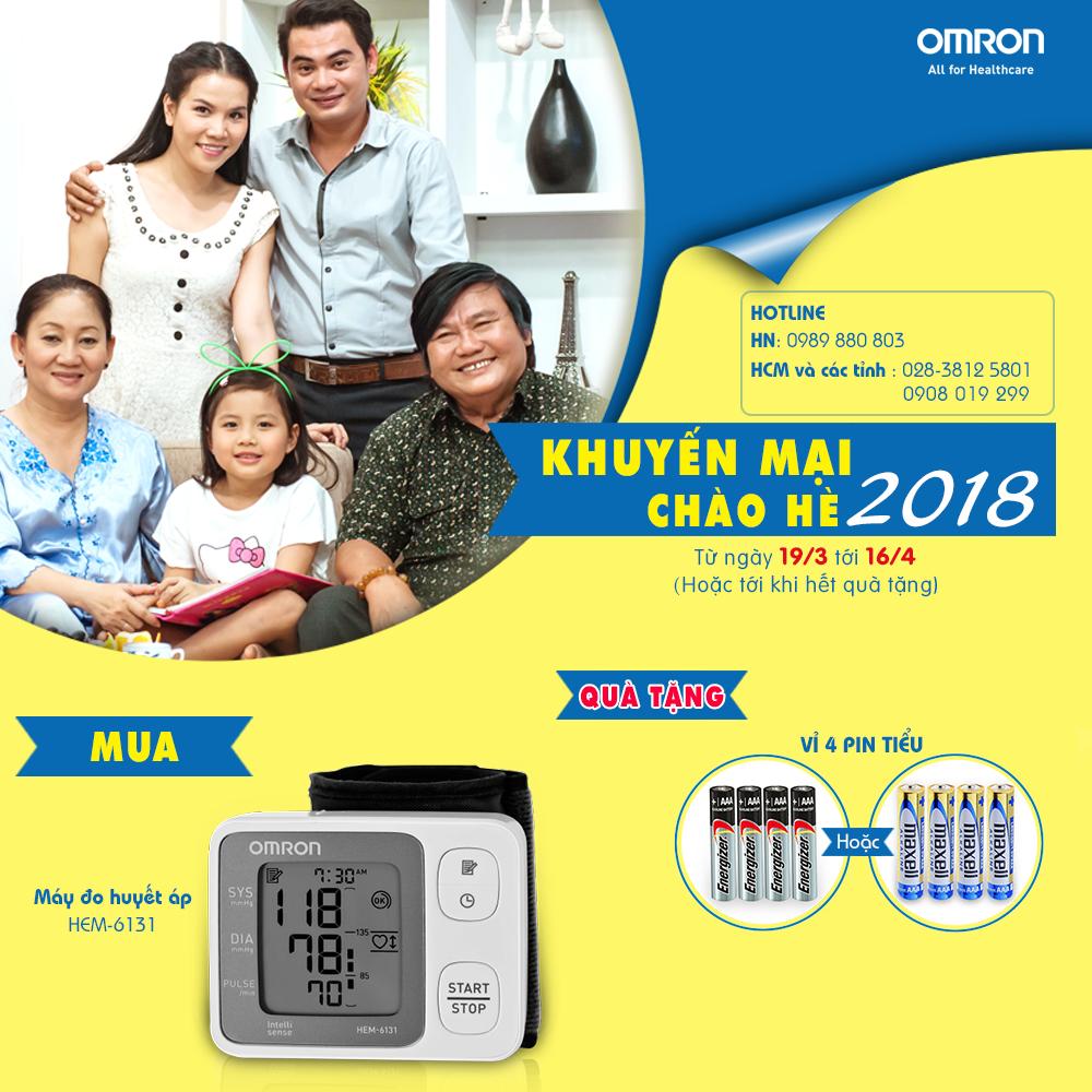 Omron Healthcare tưng bừng khuyến mại chào hè 2018 2