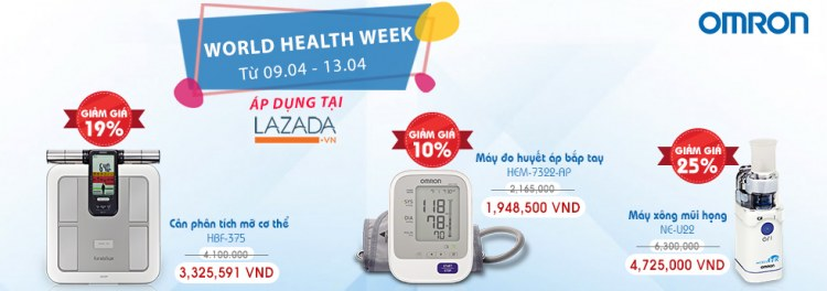 Omron Healthcare tưng bừng khuyến mãi World Health Week 1