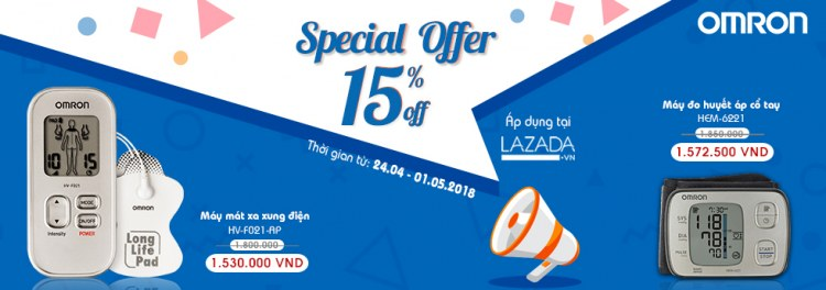 Omron Healthcare tưng bừng khuyến mãi Special Offer 15% 1