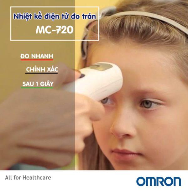 Nhiệt kế điện tử đo trán Omron MC-720 có gì đặc biệt? 2