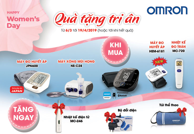 Omron Healthcare tưng bừng khuyến mại