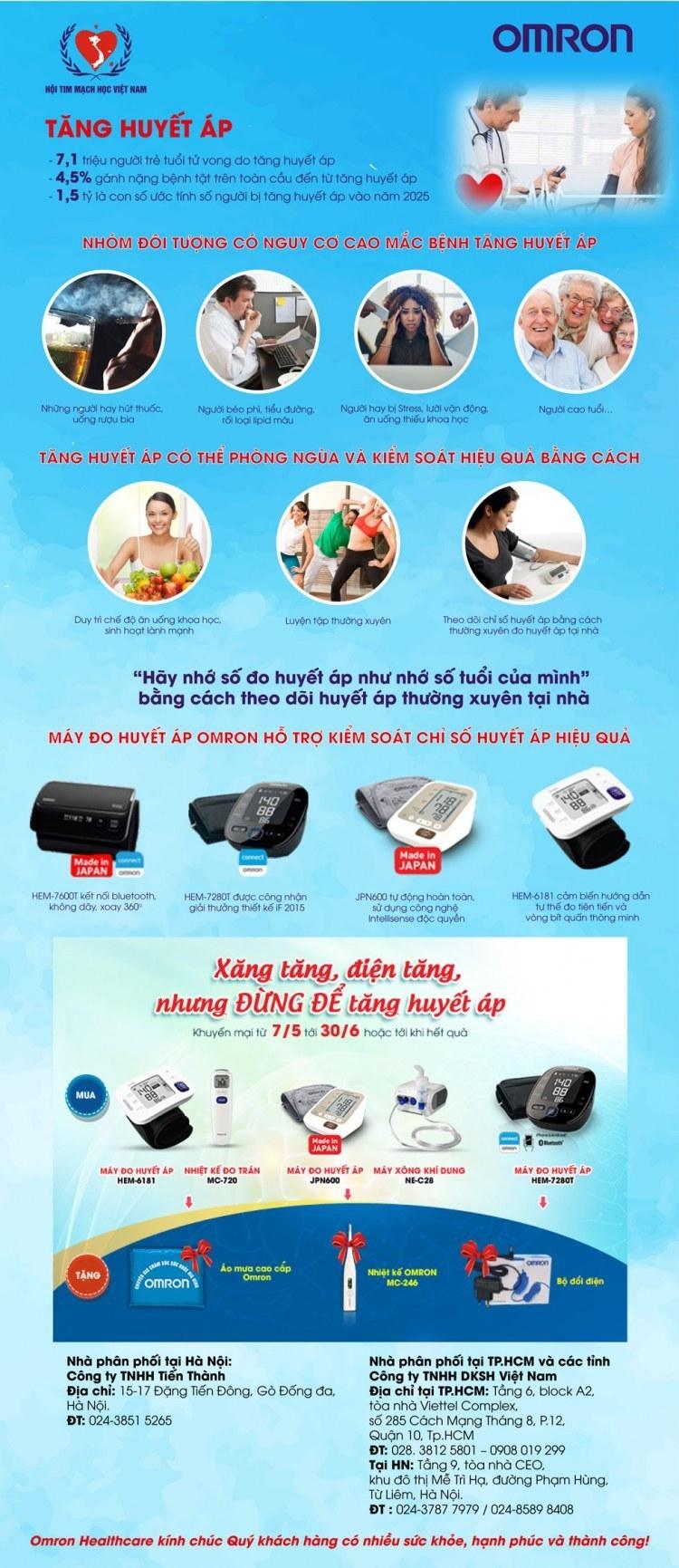 Xăng tăng, điện tăng nhưng ĐỪNG ĐỂ tăng huyết áp -  OMRON khuyến mại chào hè 2019 1