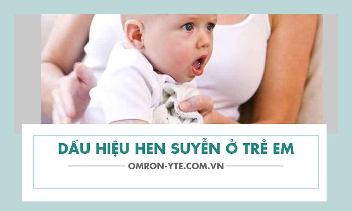 Các triệu chứng hen suyễn ở trẻ em dưới 5 tuổi 1